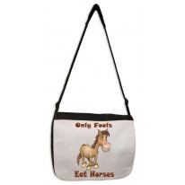 Only Fools Eat Horses Vegetarian Laptop Messenger Bag