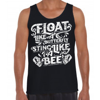 Float Like A Butterfly Sting Like A Bee Boxing Men's Tank Vest Top