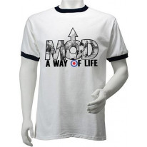 Mod A Way Of Life Ringer Style T-Shirt