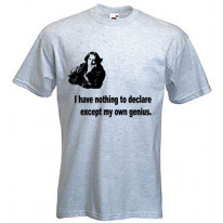 Oscar Wilde I Have Nothing To Declare T-Shirt