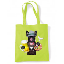 French Bulldog Bavarian Beer Style Tote Shoulder Bag