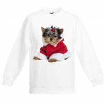 Yorkshire Terrier Puppy Santa Claus Father Christmas Kids Sweater \ Jumper
