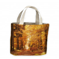 Forest Path in Autumn Tote Shopping Bag For Life