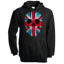 Union Jack Skull Men's Pouch Pocket Hoodie Hooded Sweatshirt