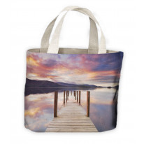 Derwent Water Keswick Lake District Jetty Tote Shopping Bag For Life