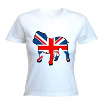 British Bulldog Union Jack Women's T-Shirt