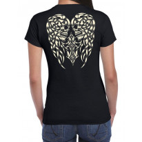 Skull Angel Wings Ladies T-Shirt