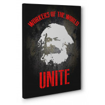 Karl Marx Workers Box Canvas Print Wall Art - Choice of Sizes