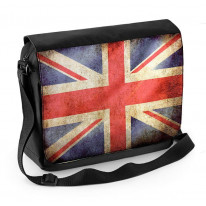 Union Jack Flag Laptop Messenger Bag