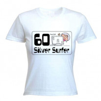 60 Year Old Silver Surfer 60th Birthday Women's T-Shirt