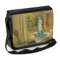 John Everett Millais Eve of St Agnes Laptop Messenger Bag
