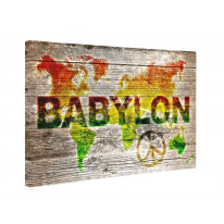 Reggae World Map Box Canvas Print Wall Art - Choice of Sizes