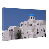 Santorini Rooftops Greece Box Canvas Print Wall Art - Choice of Sizes