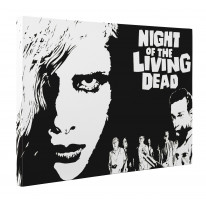 Night of the Living Dead Black and White Box Canvas Print Wall Art - Choice of Sizes
