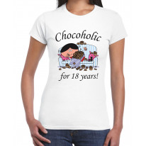 Chocoholic For 18 Years 18th Birthday Women's T-Shirt
