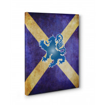 Scottish Flag Box Canvas Print Wall Art - Choice of Sizes