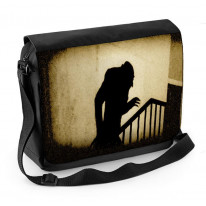 Nosferatu Stairs Laptop Messenger Bag