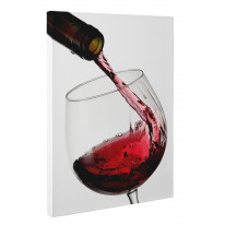 Red Wine Pouring Into Glass Box Canvas Print Wall Art - Choice of Sizes