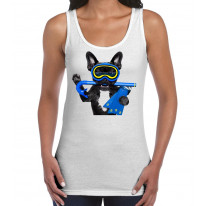 French Bulldog Scuba Diver Women's Tank Vest Top