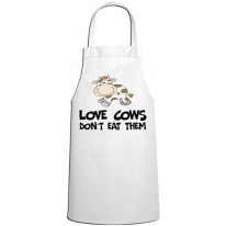 Love Cows Don't Eat Them Vegetarian Kitchen Apron