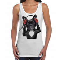 French Bulldog DJ Women's Tank Vest Top