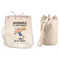 Adorable To Deplorable Men's 80th Birthday Present Duffle Backpack Bag