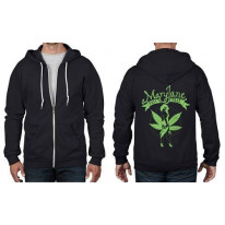 Mary Jane Cannabis Full Zip Hoodie