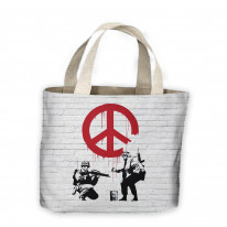 Banksy CND Soldiers Tote Shopping Bag For Life