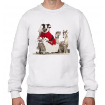 Jack Russell Dog Santa Claus Christmas Men's Jumper \ Sweater