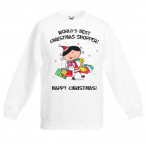 Worlds Best Christmas Shopper Kids Jumper \ Sweater