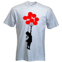 Banksy Girl With Red Balloons T-Shirt