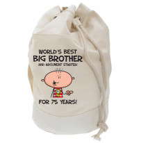 Worlds Best Big Brother Men's 75th Birthday Present Duffle Backpack Bag