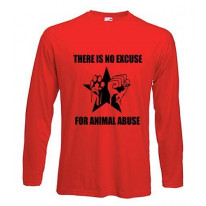 No Excuse For Animal Abuse Long Sleeve T-Shirt