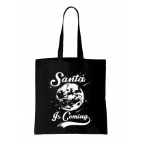 Santa Is Coming Father Christmas Shoulder Shopping Bag
