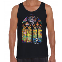 Banksy Stained Glass Church Window Men's Tank Vest Top