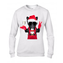 French Bulldog Santa Claus Style Father Christmas Women's Sweater \ Jumper