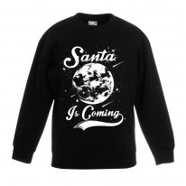 Santa Is Coming Father Christmas Kids Sweater \ Jumper