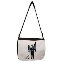 Banksy Punk Mum Laptop Messenger Bag