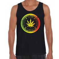 Cannabis Leaf Men's Tank Vest Top