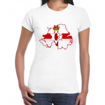 Northern Ireland Coat Of Arms Flag Women's T-Shirt