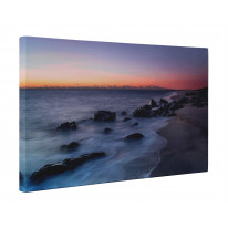 Shoreline Seascape at Sunset Box Canvas Print Wall Art - Choice of Sizes