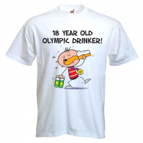 18 Year Old Olympic Drinker Mens 18th Birthday Men's T-Shirt