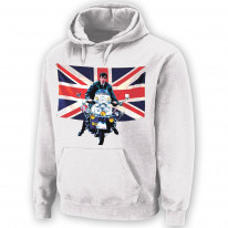 Union Jack Scooter Mod Pouch Pocket Hoodie