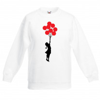 Banksy Balloon Girl Children's Unisex Sweatshirt Jumper
