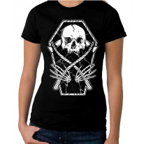 Grim Reaper Skeleton In A Coffin Women's T-Shirt