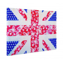 Floral Union Jack Box Canvas Print Wall Art - Choice of Sizes