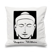Inquire Within Buddhist Cushion