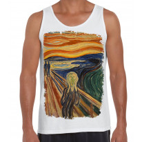 Edvard Munch The Scream Large Print Men's Vest Tank Top