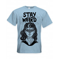 Stay Wierd Witch Girl Hipster Large Print Men's T-Shirt