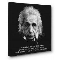 Albert Einstein Insanity Quote Box Canvas Print Wall Art - Choice of Sizes